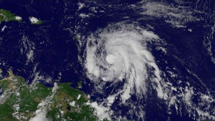 Hurac n mar a toca tierra en dominica en ruta a puerto - Puerto rico huracan maria ...