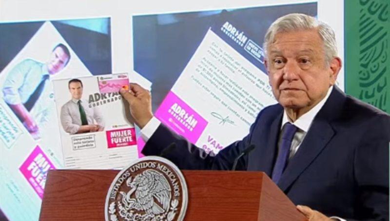 AMLO se queja porque el INE no actúa por tarjetas de Adrián de la Garza    Diario de Palenque